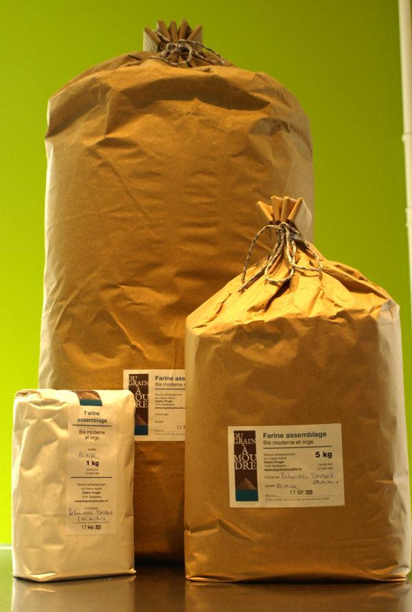 farine d'assemblage blé et orge